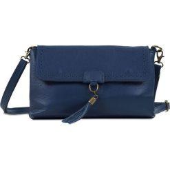 """Torebki klasyczne damskie: Skórzana torebka """"Amber"""" w kolorze niebieskim – 26 x 15 x 8,5 cm"""