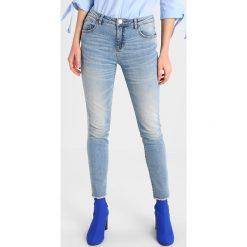 Opus ELY LIGHT Jeansy Slim Fit authentic blue. Niebieskie rurki damskie Opus. Za 299,00 zł.