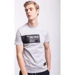 T-shirty męskie: T-shirt męski TSM207 - jasny szary melanż