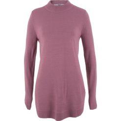 Sweter ze stójką bonprix matowy jeżynowy. Niebieskie swetry klasyczne damskie marki ARTENGO, z elastanu, ze stójką. Za 74,99 zł.