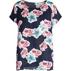 T-shirty damskie: Granatowo-Różowy T-shirt Wreath