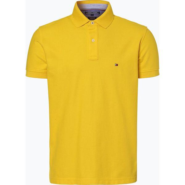 9f8cc9452 Tommy Hilfiger - Męska koszulka polo, żółty - Żółte koszulki polo ...