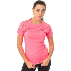 Bluzki damskie: Asics Koszulka damska Stripe Top Asics Diva Pink Heather różowa r. L (1412246039)