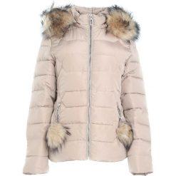 Beżowa Kurtka Spinning Around. Brązowe kurtki damskie pikowane marki Born2be, na zimę, l, z kapturem. Za 179,99 zł.