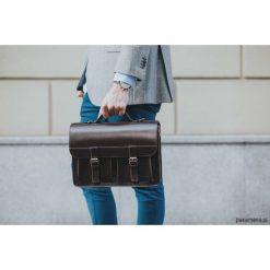 Aktówki męskie: Plecak torba na ramię teczka 3w1 skórzana