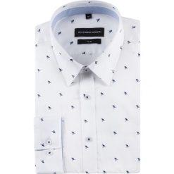 Koszula SIMONE KDWS000510. Białe koszule męskie na spinki Giacomo Conti, m, z bawełny, z klasycznym kołnierzykiem, z długim rękawem. Za 199,00 zł.