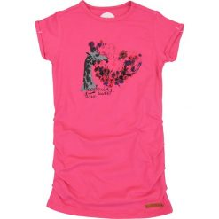 Nativo - Top dziecięcy 104-164 cm. Różowe bluzki dziewczęce marki Nativo, z bawełny, z okrągłym kołnierzem. W wyprzedaży za 29,90 zł.