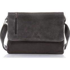 Skórzana męska Torba PAOLO PERUZZI Czarna. Czarne torby na laptopa marki Paolo Peruzzi, w paski, ze skóry. Za 219,00 zł.