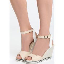 Beżowe Sandały Own World. Brązowe sandały trekkingowe damskie marki Reserved, na platformie. Za 49,99 zł.