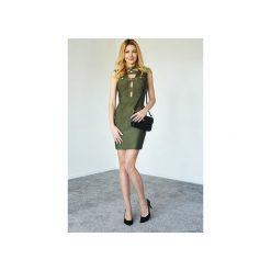Sukienka militarna Amy. Zielone sukienki balowe marki Kelly couronne, l, moro, wyszczuplające. Za 269,10 zł.