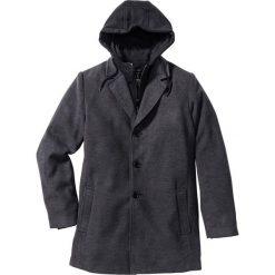 """Płaszcz """"Slim fit"""" bonprix antracytowy melanż. Szare płaszcze na zamek męskie bonprix, m, melanż, z dresówki. Za 269,99 zł."""