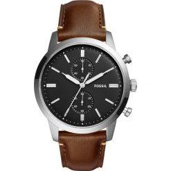 Zegarek FOSSIL - Townsman FS5280 Dark Brown/Silver/Steel. Różowe zegarki męskie marki Fossil, szklane. Za 669,00 zł.