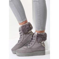 Ciemnoszare Śniegowce Stop The Rain. Szare buty zimowe damskie vices. Za 59,99 zł.