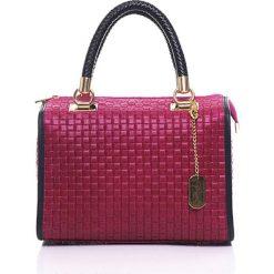 Torebki klasyczne damskie: Skórzana torebka w kolorze fuksji – 30 x 26 x 17 cm