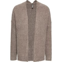 Sweter bez zapięcia z szenili bonprix brunatny. Brązowe swetry oversize damskie marki bonprix. Za 99,99 zł.
