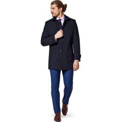Płaszcz Granatowy Veolia. Niebieskie płaszcze na zamek męskie marki LANCERTO, na wiosnę, m, z jeansu, biznesowe. W wyprzedaży za 559,90 zł.