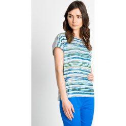 Bluzki damskie: Bluzka w nieregularne paski QUIOSQUE