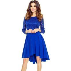 Sukienki: CATERINA – sukienka z koronkową górą chaber