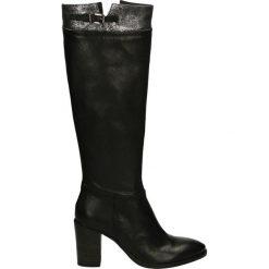 Kozaki - 7110 NERO-ARG. Czarne buty zimowe damskie Venezia, ze skóry. Za 279,00 zł.