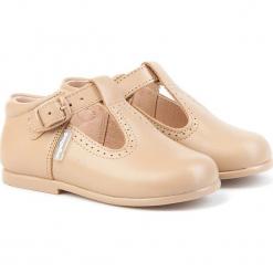 Skórzane półsandały w kolorze karmelowym. Niebieskie sandały chłopięce marki geox kids, z gumy. W wyprzedaży za 175,95 zł.