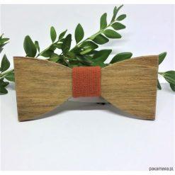Muchy męskie: Drewniana muszka Natural Orange