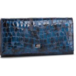 Duży Portfel Damski NOBO - NPUR-LG0180-C012 Granatowy. Niebieskie portfele damskie marki Nobo, z lakierowanej skóry. W wyprzedaży za 179,00 zł.