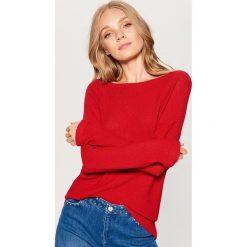 Gładki sweter oversize - Czerwony. Brązowe swetry oversize damskie marki Mohito, m. Za 89,99 zł.