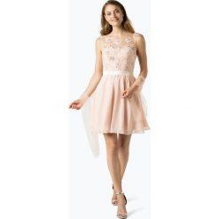 Sukienki: Niente – Elegancka sukienka damska z etolą, beżowy