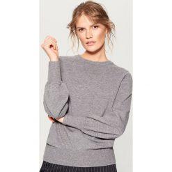 Sweter z marszczonymi rękawami - Szary. Szare swetry klasyczne damskie Mohito, l. Za 79,99 zł.