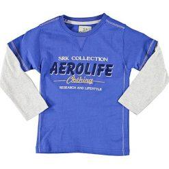 T-shirty chłopięce z długim rękawem: Koszulka w kolorze niebiesko-szarym