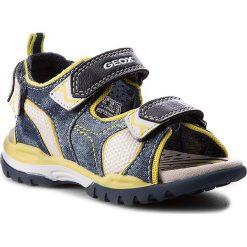 Sandały GEOX - J Borealis B.D J720RD 01314 C0749 Morski/Limonkowy. Niebieskie sandały męskie skórzane marki Geox. W wyprzedaży za 209,00 zł.