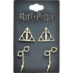 Kolczyki damskie: Harry Potter Symbole Kolczyki - Earpin złoty