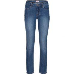 Dżinsy ze stretchem 7/8 bonprix niebieski. Niebieskie jeansy damskie bonprix, z jeansu. Za 74,99 zł.