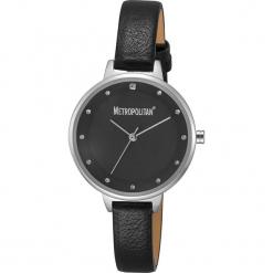 """Zegarek kwarcowy """"Darling"""" w kolorze czarno-srebrnym. Czarne, analogowe zegarki damskie METROPOLITAN, metalowe. W wyprzedaży za 130,95 zł."""