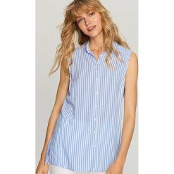 Bluzy damskie: Bluza bez rękawów – Niebieski
