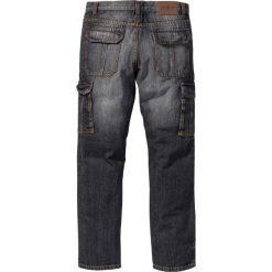 Dżinsy bojówki Regular Fit Straight bonprix czarny. Niebieskie jeansy męskie regular marki House. Za 59,99 zł.