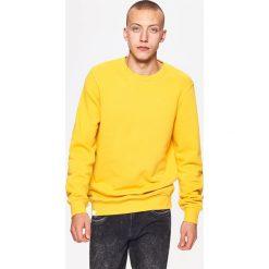 Bejsbolówki męskie: Gładka bluza basic - Żółty