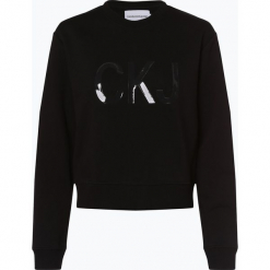 Calvin Klein Jeans - Damska bluza nierozpinana, czarny. Czarne bluzy damskie Calvin Klein Jeans, m, z jeansu. Za 399,95 zł.