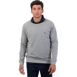 Bejsbolówki męskie: Bluza w kolorze szarym