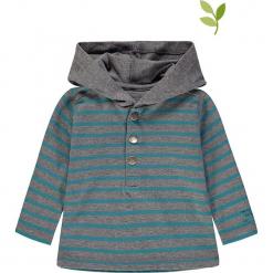 Koszulka w kolorze szaro-morskim. Niebieskie t-shirty chłopięce z długim rękawem bellybutton, w paski, z bawełny. W wyprzedaży za 49,95 zł.