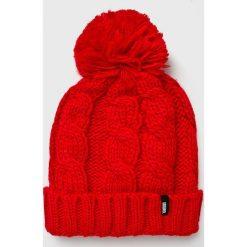 Answear - Czapka. Różowe czapki zimowe damskie ANSWEAR, na zimę, z dzianiny. W wyprzedaży za 39,90 zł.
