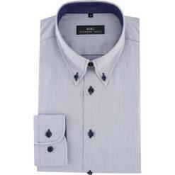 Koszula BIAGIO 16-04-12-K. Szare koszule męskie na spinki marki House, l, z bawełny. Za 199,00 zł.