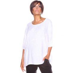 """Bluzki asymetryczne: Lniana koszulka """"Shira"""" w kolorze białym"""