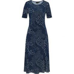 Sukienki: Sukienka bonprix ciemnoniebiesko-biały z nadrukiem