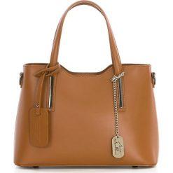 Torebki klasyczne damskie: Skórzana torebka w kolorze brązowym – 28 x 22 x 8 cm