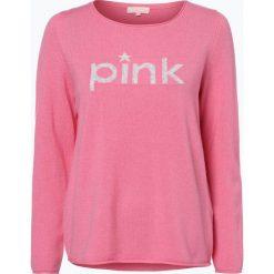Swetry klasyczne damskie: talk about – Sweter damski z dodatkiem kaszmiru, różowy