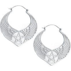 Mysterium® Winged Pentagram Hoops Kolczyki srebrny. Szare kolczyki damskie Mysterium®, srebrne. Za 489,90 zł.