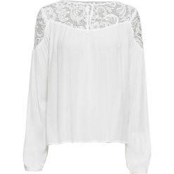 Tunika z koronką bonprix ecru. Białe tuniki damskie marki bonprix, w koronkowe wzory, z koronki. Za 99,99 zł.