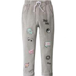 Spodnie dresowe dziewczęce: Luźniejsze spodnie dresowe z komiksowym nadrukiem bonprix jasnoszary melanż