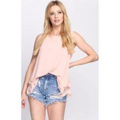 Bluzki asymetryczne: Różowa Bluzka Flirty Frills